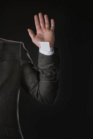 businessman with Joker card