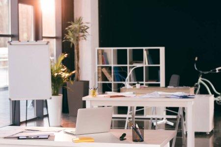Workplace in modern office