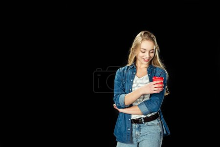 teen girl with cup of coffee