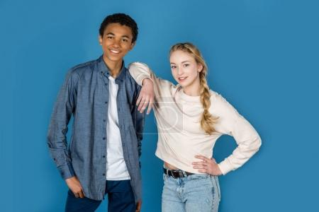 stylish teen couple