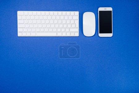 digital smartphone and keyboard