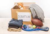 cardboard box with donation