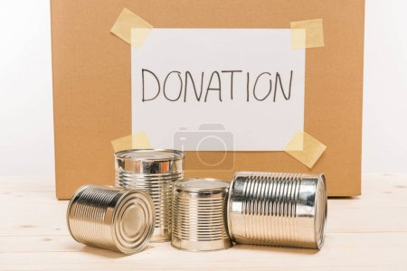 donation tin cans