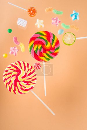 jelly candies and lollipops
