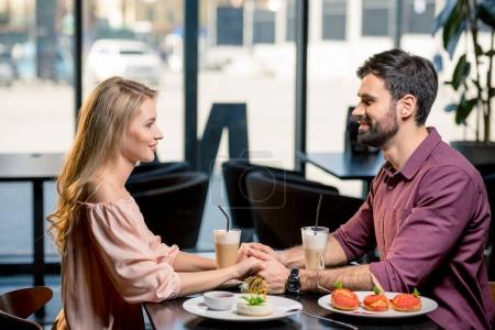 couple in love having lunch