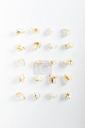 Popcorn seeds in rows