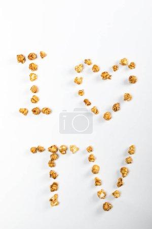 grains de maïs lettrage