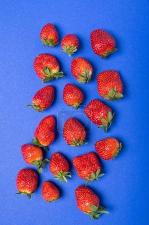 Heap of fresh red strawberries