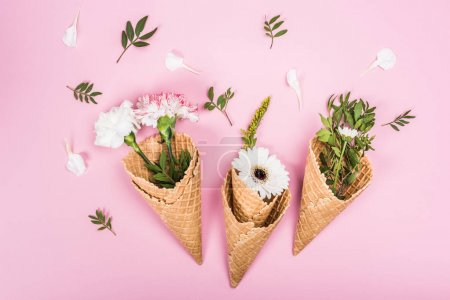 flowers in sugar cones