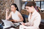 multiethnic businesswomen at workplace