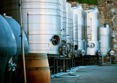 Wine tank in Castello di Amorosa of Napa Valley, California