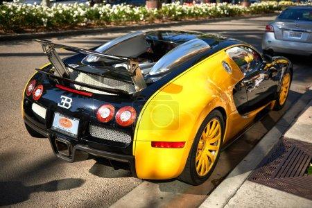 Yellow Bugatti Veyron on Rodeo