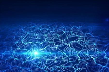 Blue digital wave texture