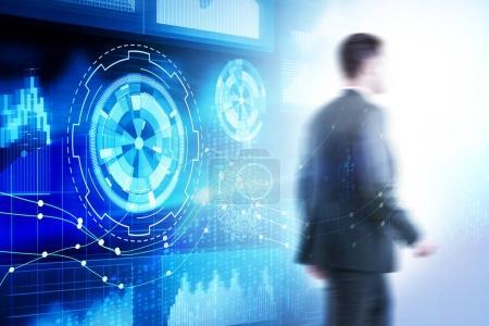 Futuristic innovation and finance concept