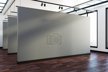 Interior with empty poster