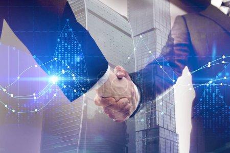 Teamwork, finance and forex concept