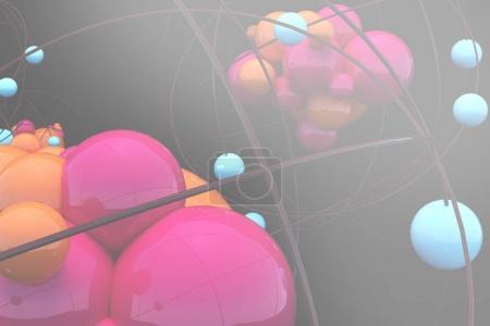 Blurry atom wallpaper
