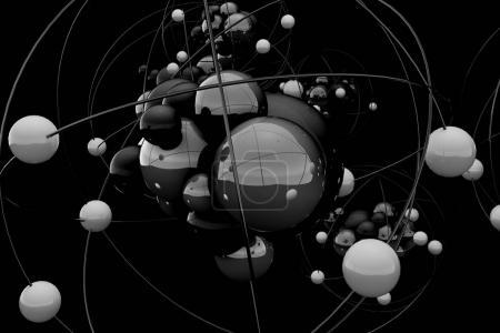 Black atom backdrop