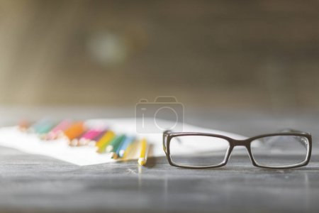 Glasses and supplies