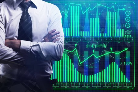 Interface and finance concept