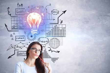 Presentation and idea concept