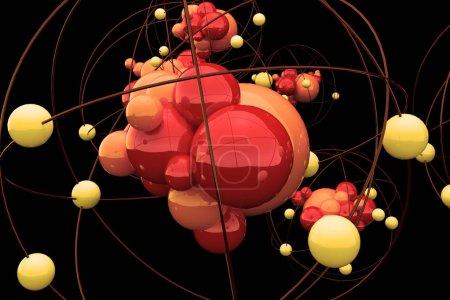 Creative atom backdrop