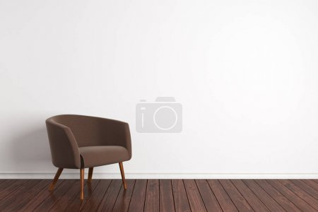 Minimalistic interior with armchair