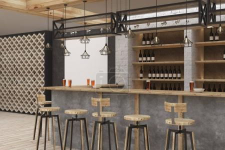 Stylish bar interior