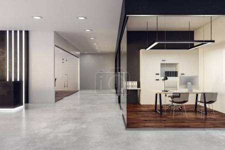 New glass office interior
