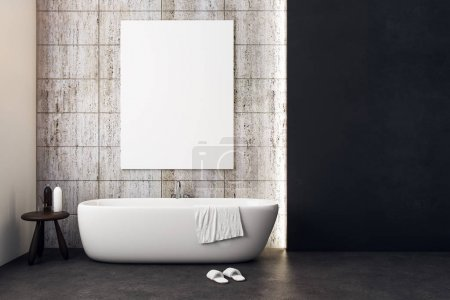 Luxury bathroom with empty poster