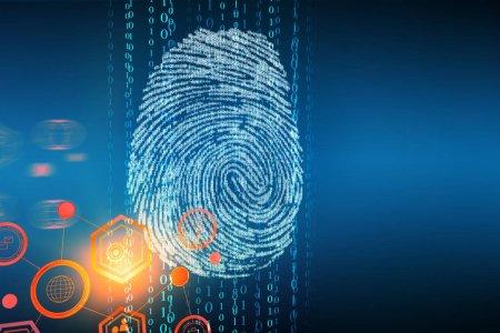 Creative fingerprint backdrop