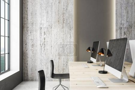 Modern office with copy space