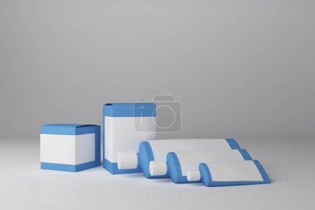 Clean blue medicine container