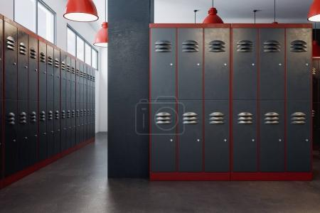 Luxury locker room interior