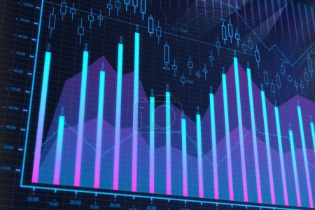 Stock, analysis and trade concept
