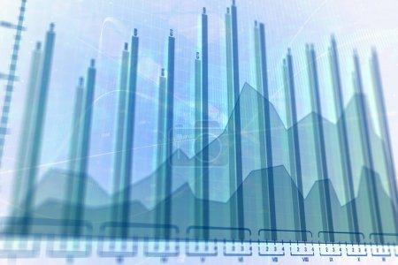 Photo pour Texture brillante forex lumineux. Investissement, stock, finance, analyse et profit. Rendu 3D - image libre de droit