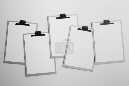 Empty clipboard on white background