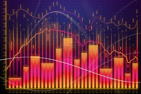 Market growth, finance and banking concept