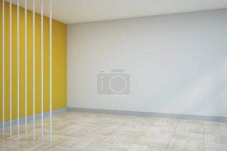 Intérieur contemporain avec espace copie