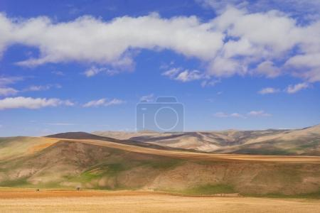 Photo for Charming nature and landscape, mountain slopes and hills under the blue sky - Royalty Free Image