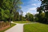 Veřejný park v Olomouci, Česká republika
