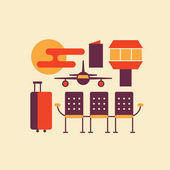 icon set of airport