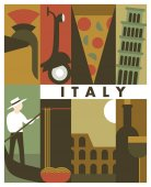 italy travel retro banner