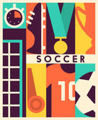 soccer retro style banner