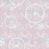 Retro pattern on a bicycle theme Replicated image