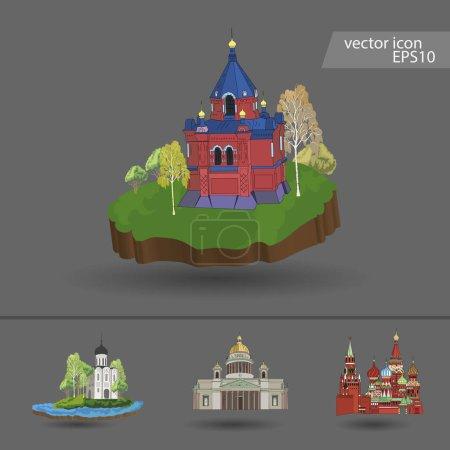 Russia. Vector. Silhouette. Icon