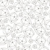 Abstract vector background with framework crystals Seamless geometry pattern for textile wallpaper wrapping paper web