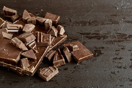 Chocolate mangled to pieces.