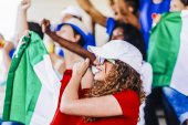 Supporters from Italy at stadium