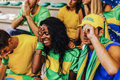 Supporters from Brazil at Stadium